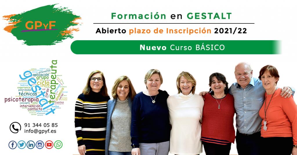 Nuevo curso Básico 2021/22 de formación en terapia Gestalt